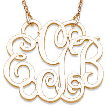 monogram necklace gold elizabeth edmonds 10k yellow gold 3 initial fancy monogram