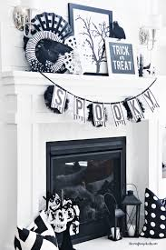 black u0026 white halloween mantle decor the crafting
