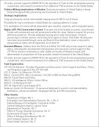 Resume For Technical Jobs by Fm 3 05 401 Appendix C Products Of Ca Cmo Planning And Operations