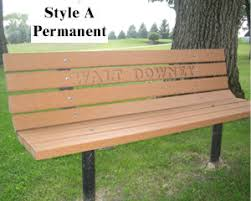 Heavy Duty Garden Bench Park Bench Economical Uv Vandal Resistant Commercial Duty