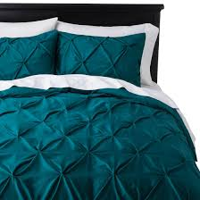 Pinched Duvet Cover Teal Bed Set Target Threshold Pinched Pleat Duvet Cover Set