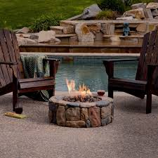 bond petra round propane fire pit insider in ground garden