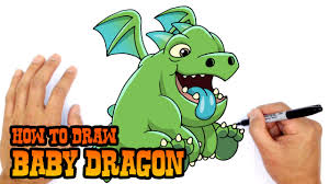 how to draw baby dragon clash royale youtube