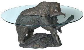 black bear coffee table black bear coffee table bear coffee table black bear glass top