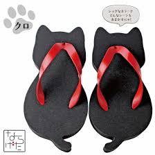 nyarageta u2013 some cute japanese flip flops shaped as cats ufunk net