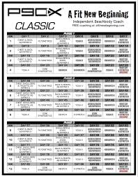 printable workout plan calendar p90x workout routine schedule p90x classic schedule a fit new