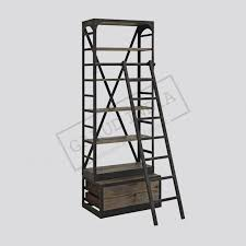 Metal And Wood Bookshelves by And Metal Bookshelf With Ladder