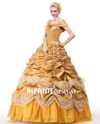 deluxe princess belle dress cosplay costume belle princess