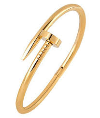 stainless steel gold bracelet images Valchand jewellers stainless steel nail gothic openable kada jpg