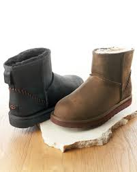 s ugg australia mini leather boots ugg mini deco boot brown