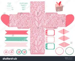 party set gift box template abstract stock vector 258082205