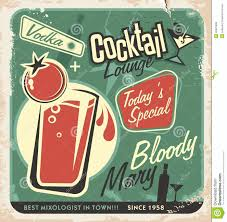 retro cocktail lounge vector poster design royalty free stock