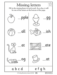1st grade kindergarten preschool reading writing worksheets