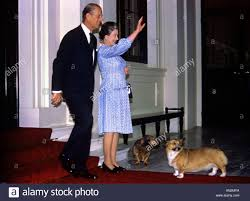 Queen Elizabeth Ii Corgis by Queen Elizabeth And Prince Philip With Corgi Dogs At Buckingham