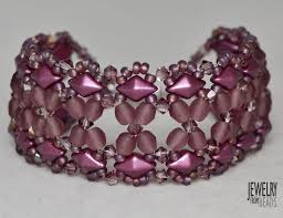 bracelet designs with beads images 127 best diamonduo bead images bead jewelry jpg