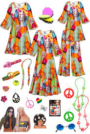 halloween kit sold out sale lava love print plus size hippie costume 60 u0027s