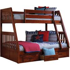Full Beds With Storage Cambridge Stanford Twin Over Full Bunk Bed With Storage U0026 Reviews