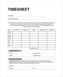 sample consultant timesheet template 9 free documents download