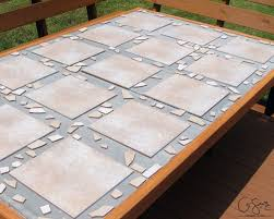 Patio Table Top Replacement Remodelaholic How To Replace A Patio Table Top With Tile