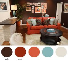 burnt orange coffee table hotel chic design diys seen on home made simple blue brown