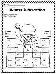 free winter subtraction first grade math pinterest winter