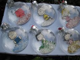 set of 6 peanuts squashed snow globe tree ornaments flickr