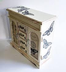 Shabby Chic Jewelry Armoire by Jewellery Armoire Butterfly Jewellery Box Vintage Jewelry Box