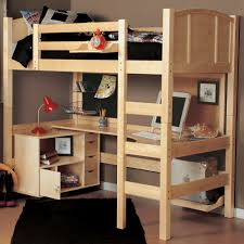 Kid Bunk Beds With Desk by Bedroom Modern White Loft Bed With Wardrobe And Assorted Color