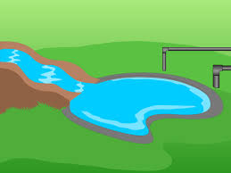 Water Ponding In Backyard How To Make A Backyard Fish Pond 11 Steps With Pictures