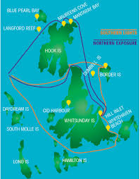 Northern Lights Map Whitehaven Beach Tour Southern Lights Tour Whitsundays