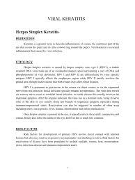 viral keratitis 1 herpes simplex virus