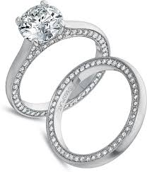 precision set rings precision set bead engagement ring 22ct tw ps 7250
