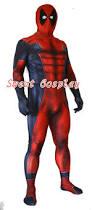 Deadpool Halloween Costume Aliexpress Buy Deadpool Costume 3d Printing Red Black