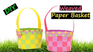 diy weaved paper basket how to make easter 2017 youtube