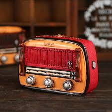 2 colors resin furnishing radio ornaments money piggy bank craft