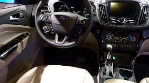 Ford Escape Interior - 2017 ford escape titanium interior walkaround 2016 new york auto