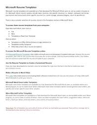 ms office resume templates template ms office cover letter template
