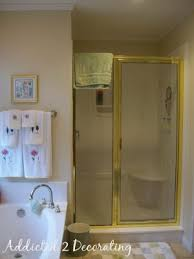 Camouflage Bathroom Another Brass Framed Shower Camouflage Solution