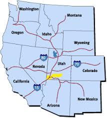 map usa utah getting to st george utah