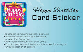 happy birthday card stickers app ranking and store data app annie