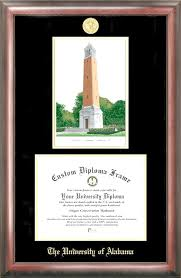 of alabama diploma frame of alabama crimson tide mahogany and satin college