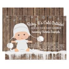 baby it s cold outside baby shower baby its cold outside invitations announcements zazzle
