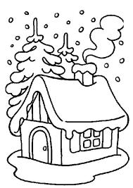 Coloriage Noel Maison Et Cheminée