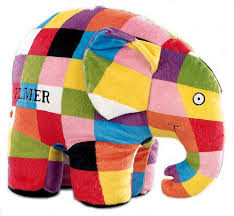 Patchwork Elephant Book - elmer the patchwork elephant large plush by preferred