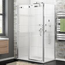 1000 x 800 frameless 8mm sliding easy clean glass shower enclosure