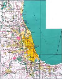 Illinois Blank Map by