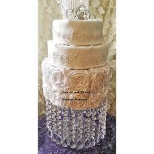 Acrylic Chandelier Beads by Wedding Cake Stand With Crystals Chandelier Acrylic Beads Cupcake
