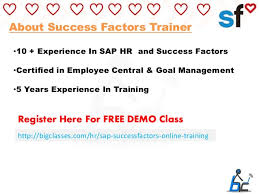 5 hr class online sap success factors online learn success factors online