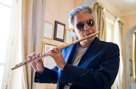 Opera Singer Blind Bocelli Andrea Bocelli Playing The Flute Andrea Bocelli Exclusive