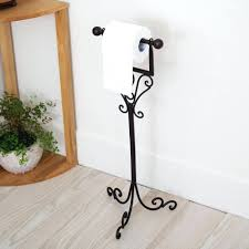 free standing toilet paper holder brushed nickel barclay products